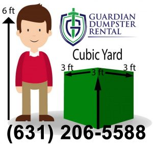 How to measure a Cubic Yard - Guardian 20 Yard Dumpster Rental Bay Shore